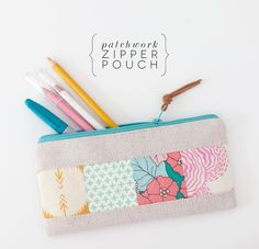 DIY: patchwork zipper pouch