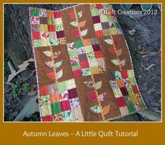 lofts, autumn leaves, quilt tutorialspattern, fall quilt, loft creation