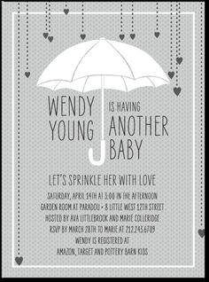 baby shower ideas drop shower invitations baby sprinkle 2nd baby