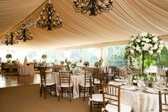 elegant tent weddings - Google Search