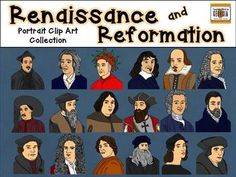 Portraits in History- Renaissance, Enlightenment, and Reformation Clip Art (LOTS of scientists in here!) $