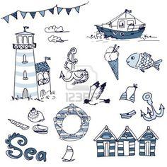 cats, beaches, doodl art, doodles, doodl stuff, seasid fun, sea doodl, diy, beach ilustration
