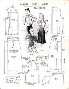 1943- Blouses Skirt Jacket