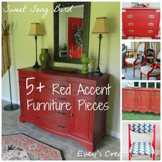 Sweet Song Bird: 5+ DIY Red Accent Furniture Pieces