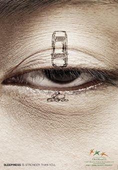 don't drive sleepy #Ad #Advertisement #crash