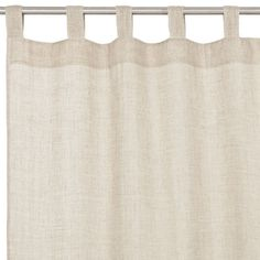 Linen Curtain with Rings | Zara Home linen curtain, window treatments