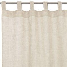 linen curtain, window treatments