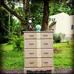 A boy's dresser for a friend.   My Passion For Decor: Feeling Stripey...A Dresser For Dylan