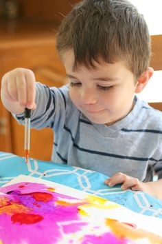 Art for Kids: Painting with Watercolors and Droppers