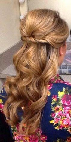 bridesmaid hair, graduation hairstyles, bridal hair updo curls, summer hair styles, graduation hair styles, summer hairstyles, summer wedding hairstyles, curly hair, curled wedding hair
