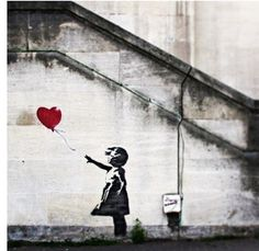 One of his most famous pieces Banksy