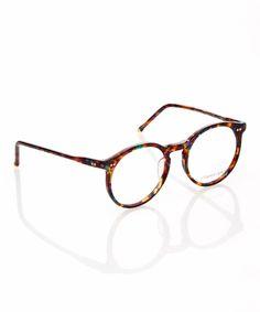 Purple & Green Tortoise Round Eyeglasses//