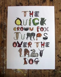 ANIMAL LETTERS BY MARK LONG