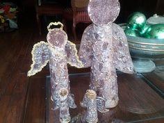 DIY Angelito con rollos de papel del baño/ Christmas Ornaments