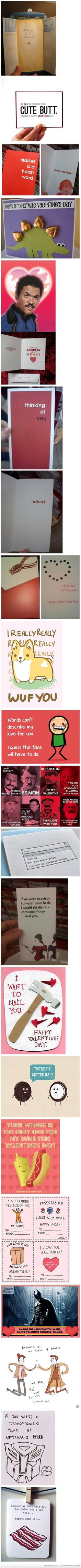 These are my kind of valentines! LOL