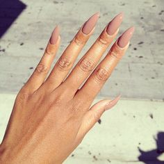 pointy nails- Love the color