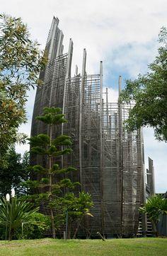 Jean-Marie Tjibaou Cultural Centre, Noumea, New Caledonia (1998) Designer: Renzo Piano Building Workshop