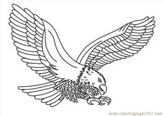 patriotic Eagle coloring pages