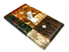 Patchwork Owl Light Switch Cover Rustic Country by ModernSwitch,