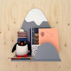 mountain, penguin, shelv, kid room