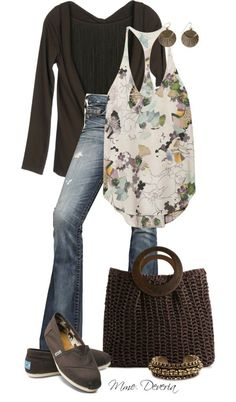 """""""Chocolate Toms"""" by madamedeveria on Polyvore"""