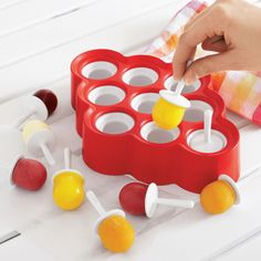 Zoku® Mini Lolly Maker Set - Also useful for making little frozen shots lolli maker, zoku, mini pop, gadget, mini lolli, minis, pop mold, frozen shot, maker set