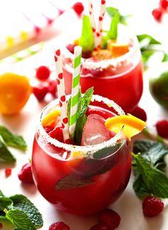 Raspberry Lemonade w/ Fresh Mint