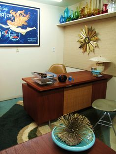 Herman Miller Teak Executive Desk (if you can find one for sale) cool MCM for a home office