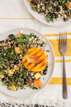 Fiery Fruit & Quinoa Salad from @ohmyveggies