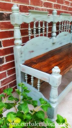 Curb Alert!: DejaVu: Another Headboard Bench in Blue (and Theo)