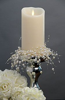 Check out the deal on Beaded Pearl Garland - 5 Feet at Battery Operated Candles