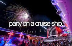 bucketlist, buckets, cruis ship, parties, cruises