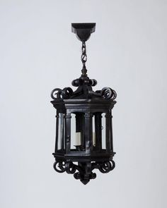 Wrought iron lantern for the porch