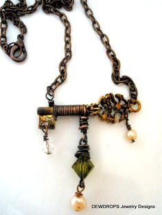 the  key of love  necklace