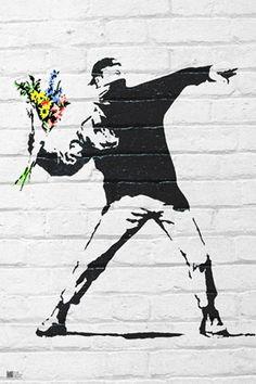 Flower Bomber Banksy #banksy