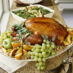 Cider-Glazed Turkey | #thanksgiving #autumn #holiday #food #dinner #savory #baking