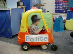 Use your Cozy Coupe for different themes.  TrainingWheelsConsulting.com