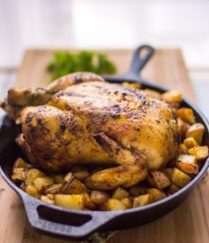 Paprika Roasted Chicken and Potatoes by dianeabroad #Chicken #Paprika #Potatoes