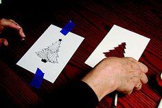 Preparing your cardstock for iris folding