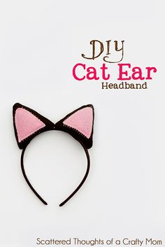 DIY Cat Ear Headband Tutorial w/ Template | Scattered Thoughts of a Crafty Mom