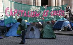 Protests about global financial system, tax injustice, and the crisis due to globalisation and their job loss.