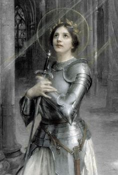 Beautiful painting of St. Joan of Arc. @ Christ be our Light Tumblr