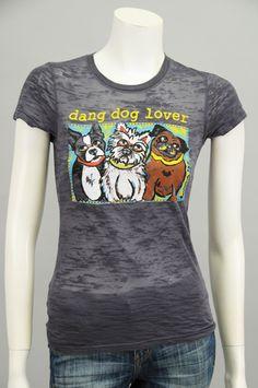 """Dog Lover"" Charcoal Tee #dangchicks #sageclothing"