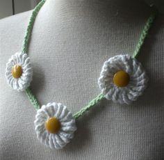 yoyo, jewelri crochet, daisi chain, crochet techniqu, crochet stich, crochet necklac, daisies, jewelri diy, daisy chain