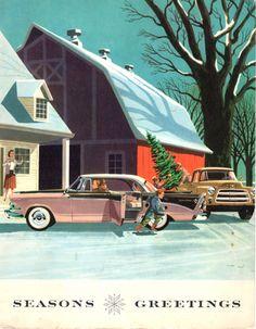 Dodge Christmas card : Harry Borgman : 1953