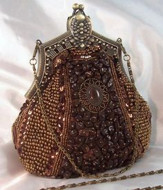 BROWN Vintage Look Evening Bag BEAD SEQUIN RHINESTONE Ebay http://www.ebay.com/itm/BROWN-Vintage-Look-Evening-Bag-BEAD-SEQUIN-RHINESTONE-w-2-Chain-Straps-/260850494933?pt=US_CSA_WH_Handbags=item3cbbe6add5#ht_3034wt_1114
