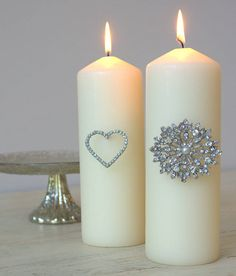 Diamante Candle Pins