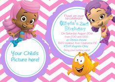 Google Image Result for http://img1.etsystatic.com/005/0/5552845/il_fullxfull.367459609_gvg9.jpg girl birthday, bubble guppies, birthday invit, bubbles, card, guppi birthday, 2nd birthday, parti idea, bubbl guppi