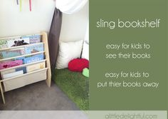 a little delightful: {product review} sling bookshelf from Lime Tree Kids