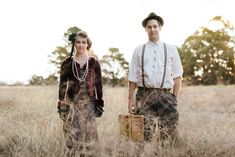 Bianca and Bens 1920s Style Engagement Photos